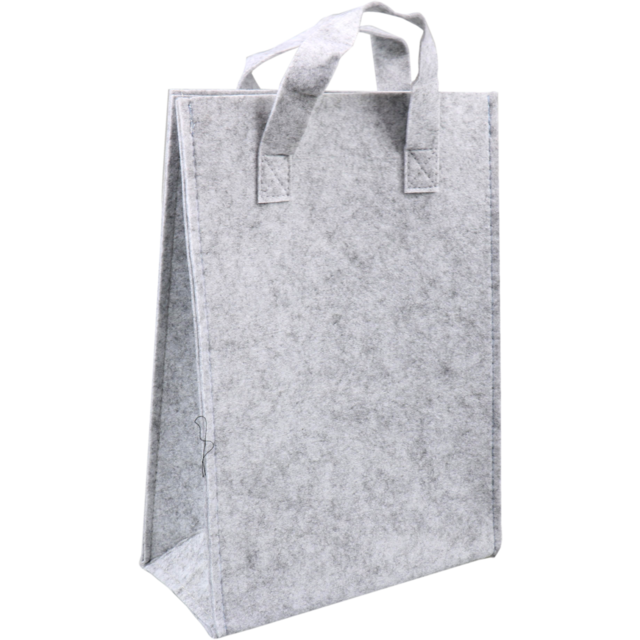 Bag, Felt, 23x10x33cm, grey 1