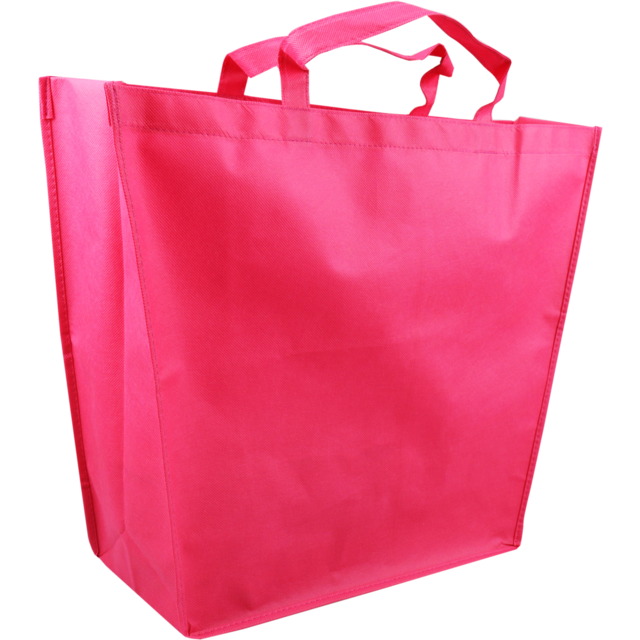 Bag, Non-woven, Taps toelopend, 50x 16x40cm, carrier bag, pink 1