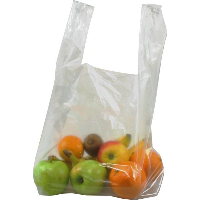 Bag, LDPE, hemd, 25x6x50cm, t-shirt bag, transparent 1