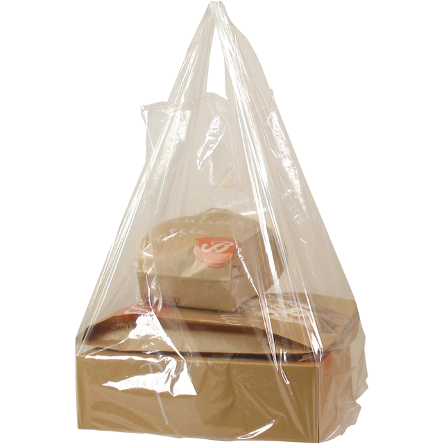 Bag, Delicious, LDPE, hemd, 30x10x60cm, t-shirt bag, transparent 1