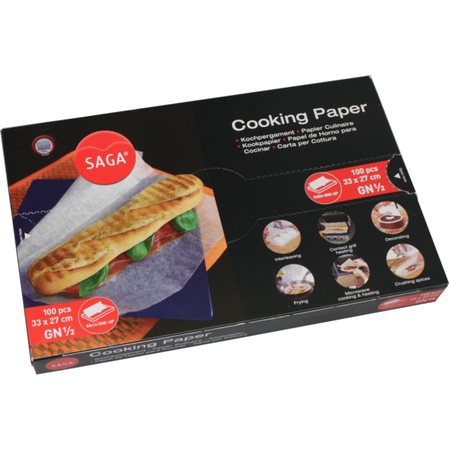 Paper, Silicone treated greaseproof paper, 27x33cm,  1