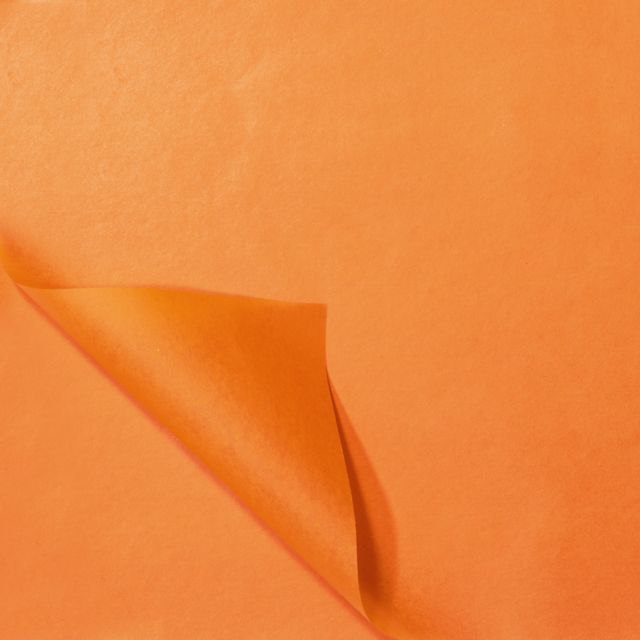 Sheet, Silk-blend paper, Paper, 50x70cm, orange  1