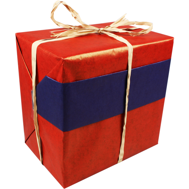 Gift-wrapping paper, 50cm, 400m, 58, red/Blue 1