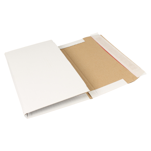 SendProof® Book packaging, Your own printing, A4, 300x200x80mm, incl. (printing) plate costs, white 1