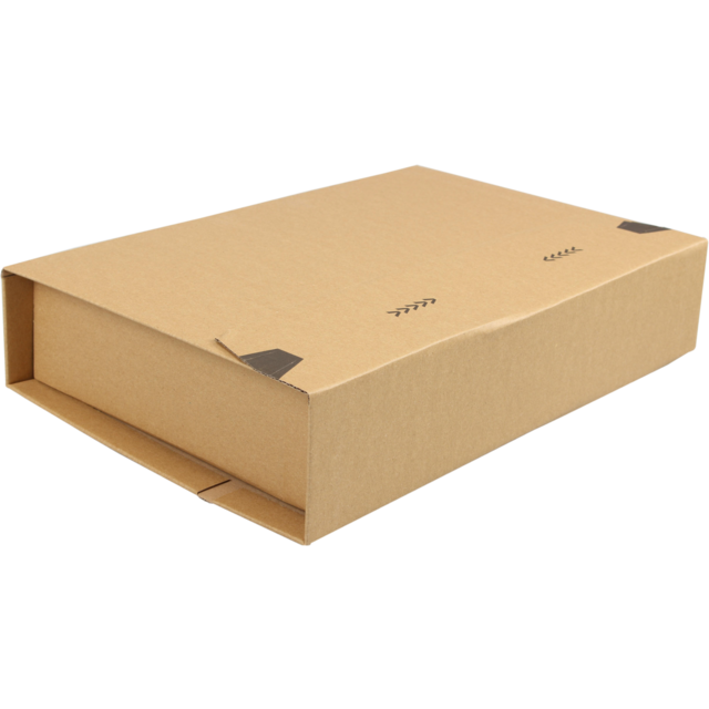 SendProof Book packaging, Corrugated cardboard, 328x255x80mm, brown 1