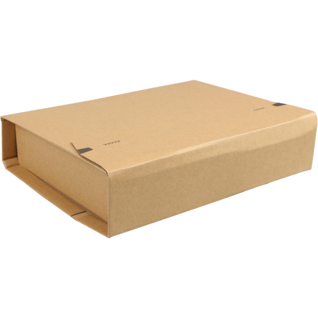 SendProof® Book packaging, Corrugated cardboard, 335x275x80mm, brown 1