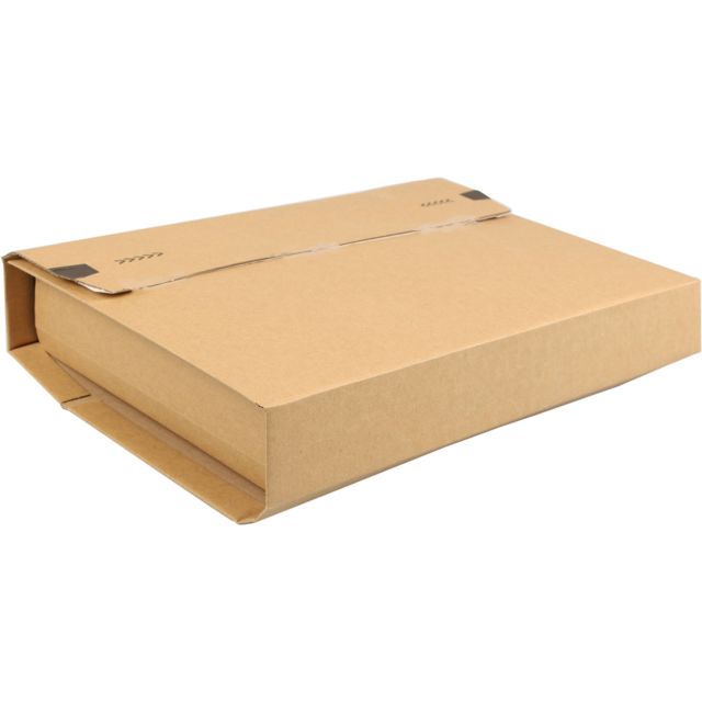 SendProof Book packaging, Corrugated cardboard, 378x295x80mm, brown 1