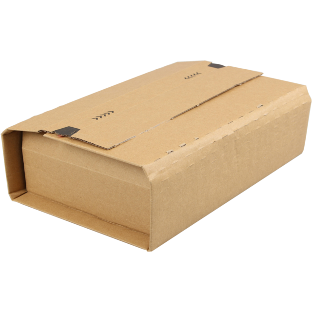 SendProof® Book packaging, Corrugated cardboard, 250x190x85mm, brown 1