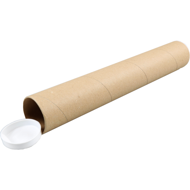 Tube, Cardboard, with cap, round, Ø 50mm, 330mm, brown 1