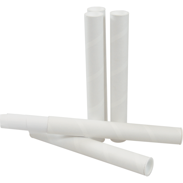 Tube, Cardboard, Fits through letterbox - tube, with cap, round, Ø 30mm, 330mm, white 1