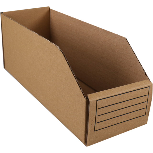 Container, Corrugated cardboard, folding box, 271x99x112mm, brown 1