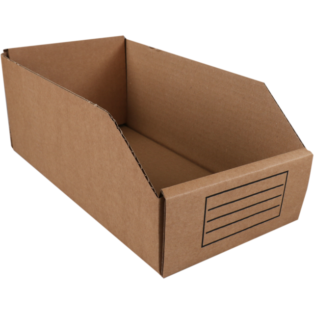 Container, Corrugated cardboard, folding box, 271x149x112mm, brown 1