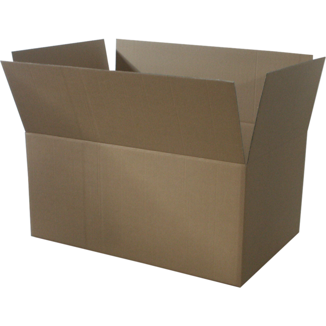 Pallet box, Corrugated cardboard, 1180x780x540mm, double corrugation, brown 1