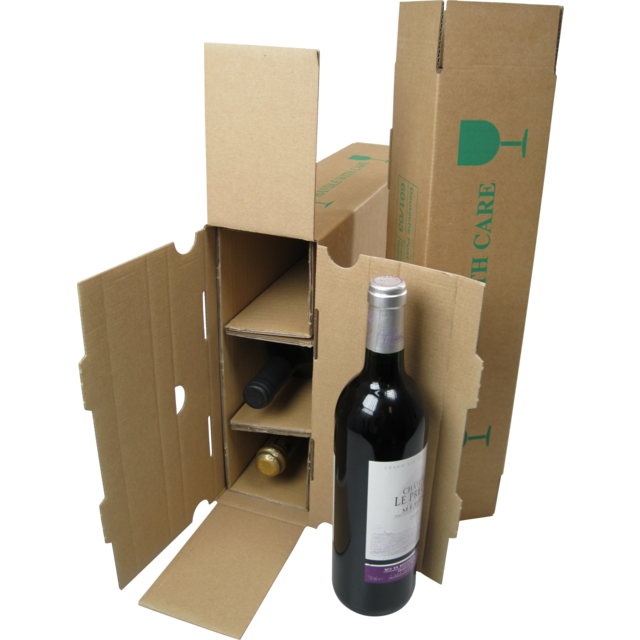 Wine mailing box, Cardboard, 380mm, 3 bottles ,  1