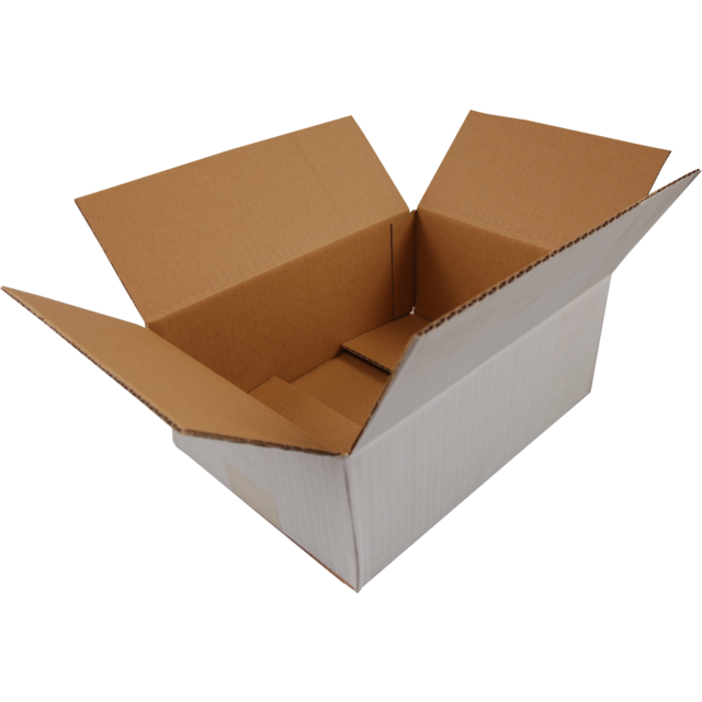 American folding box, Corrugated cardboard, 330x220x165mm, single corrugation, PFA, white 1