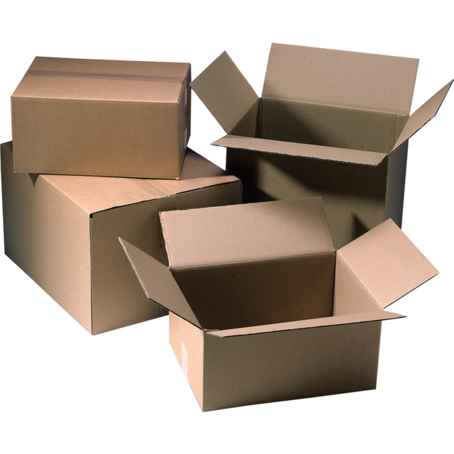 American folding box, Corrugated cardboard, 392x292x384mm, single corrugation, brown 1