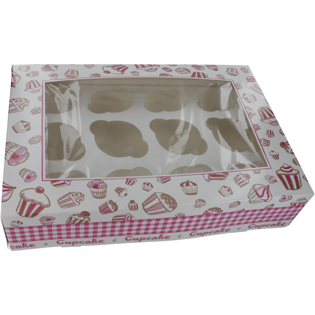 Cake box - specials, Cardboard, 250x360x80mm, white 1