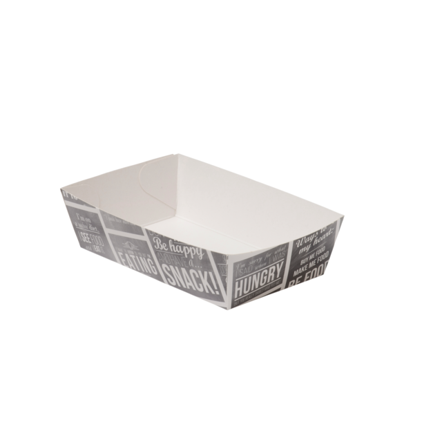 Container, Karton/Coating, snack box, 120x70x35mm, white/Grey 1