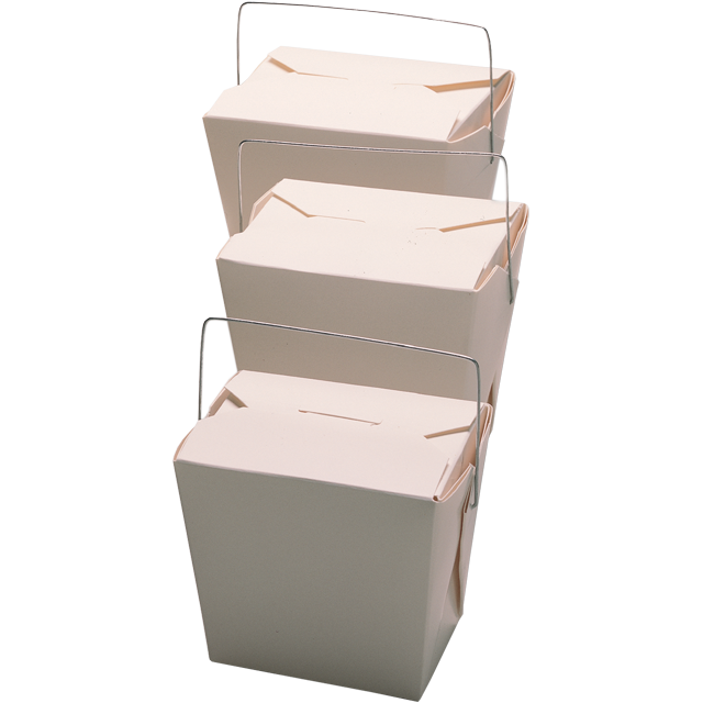 Container, Cardboard, 230,0ml, asian meal container, 60x45x64mm, white 1