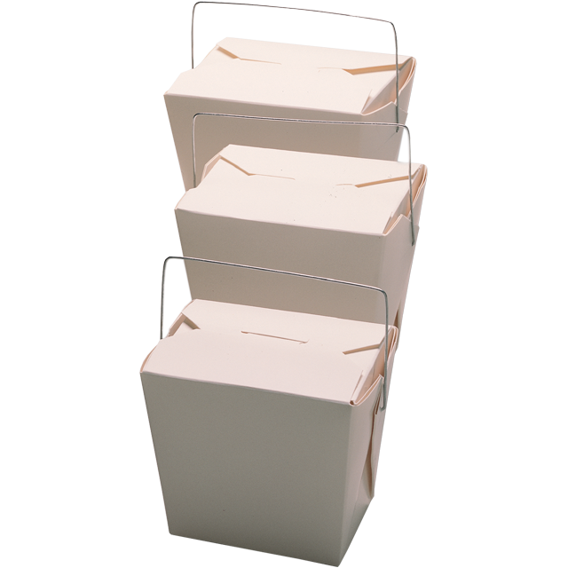 Container, Cardboard, 460,0ml, asian meal container, 76x57x73mm, white 1