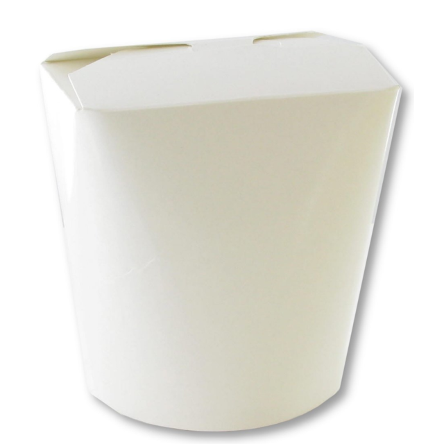 Container, Cardboard, 750ml, asian meal container, 98x92x95mm, white 1