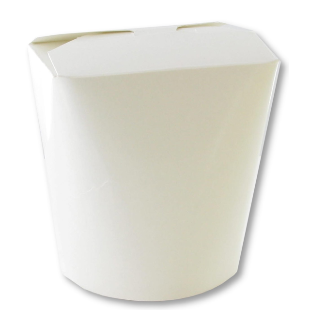 Container, Cardboard, 920ml, asian meal container, 103x96x115mm, white 1