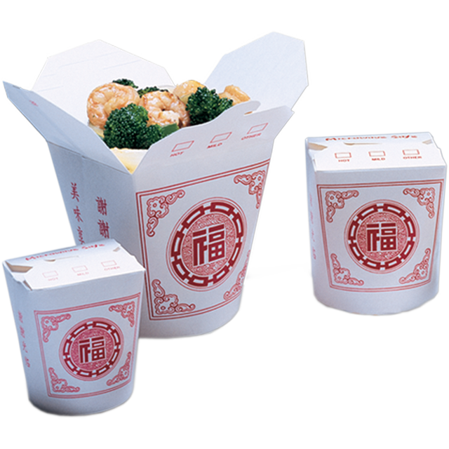 Container, Cardboard, 460ml, asian meal container, 82x70x95mm, white 1