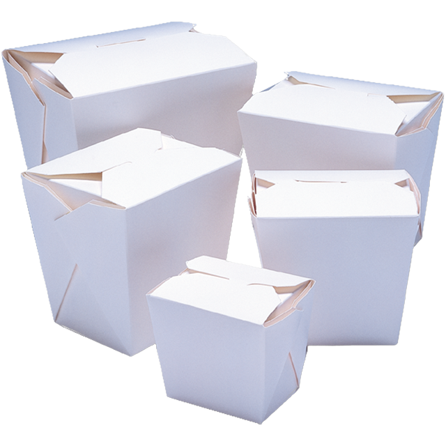 Container, Cardboard, 750ml, asian meal container, 79x67x101mm, white 1