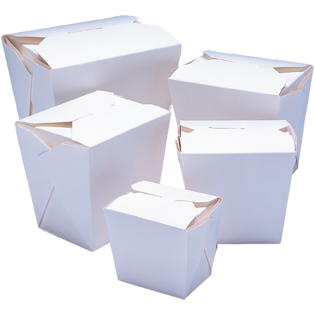 Container, Cardboard, 920ml, asian meal container, 86x67x108mm, white 1
