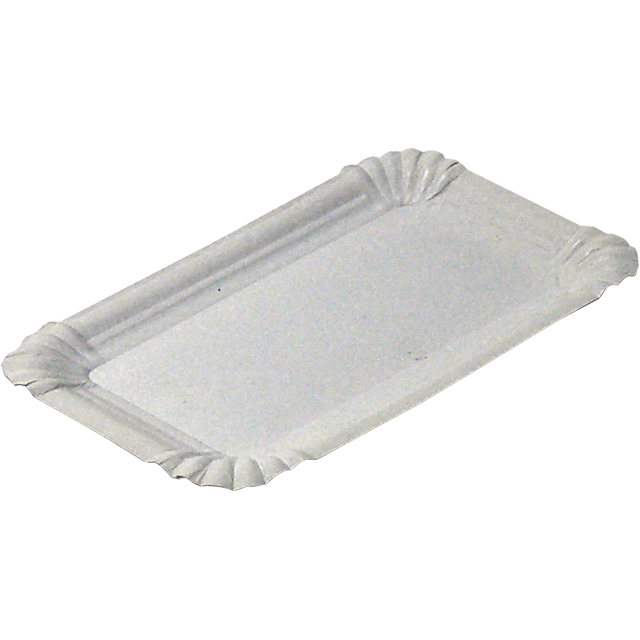 Catering serving tray , unlined dish, Cardboard, rectangular, 16x10cm, white 1