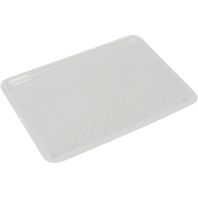Catering serving tray , cold-meats tray, PS, rectangular, 180x128mm, checks, white 1
