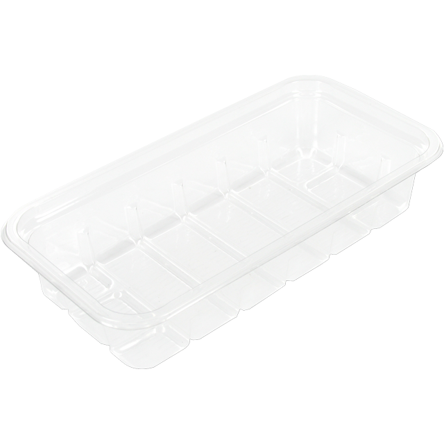 Catering serving tray , meat tray, PS, 65h PS, rectangular, 175x90mm, transparent 1