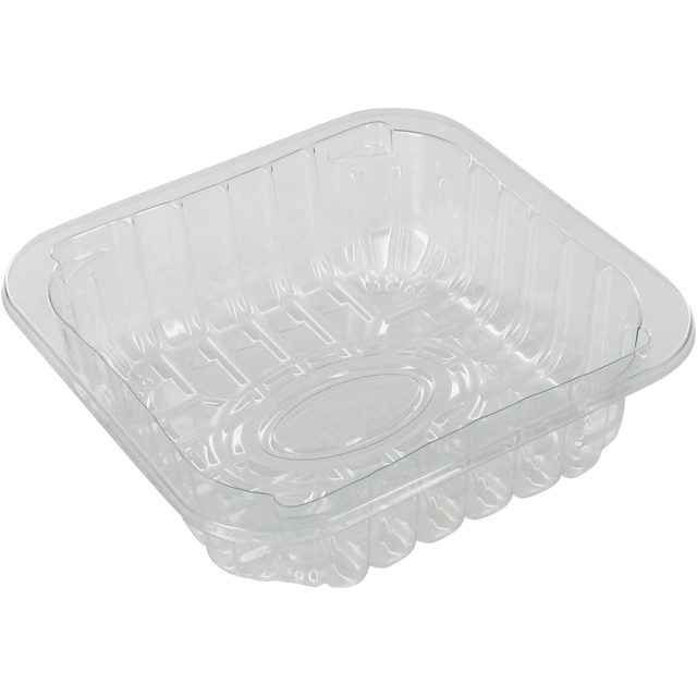 Catering serving tray , meat tray, PET, c60-38 r-PET, square , 130x130mm, transparent 1