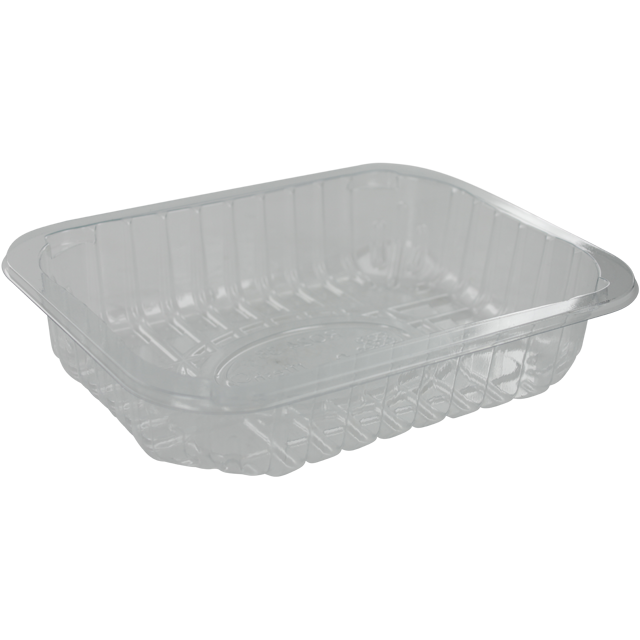 Catering serving tray , meat tray, PET, 24-38 r-PET, rectangular, 179x139mm, transparent 1