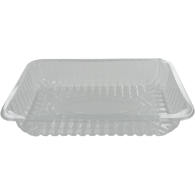 Bowl, meat tray, PET, t15-45 r-PET, rectangular, 260x177mm, transparent 1