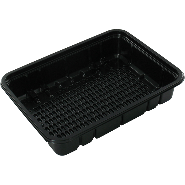 Catering serving tray , meat tray, PS, 70h PS, rectangular, 180x135mm, black 1