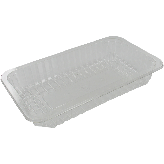 Catering serving tray , meat tray, PET, 73/38, rectangular, 230x135mm, transparent 1