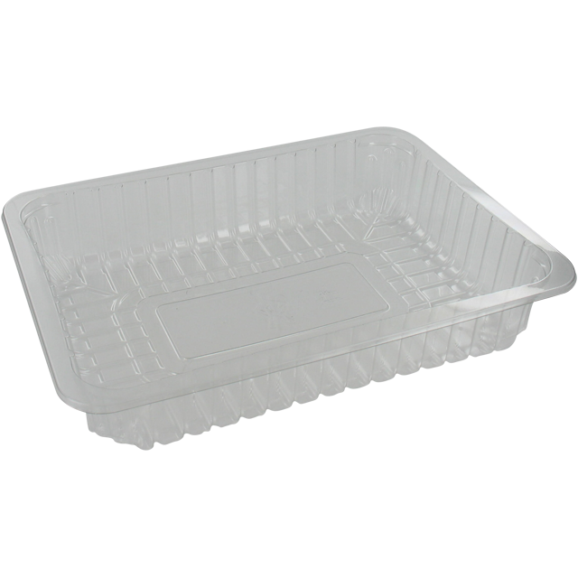 Catering serving tray , meat tray, PET, 3S/45, rectangular, 243x180mm, transparent 1