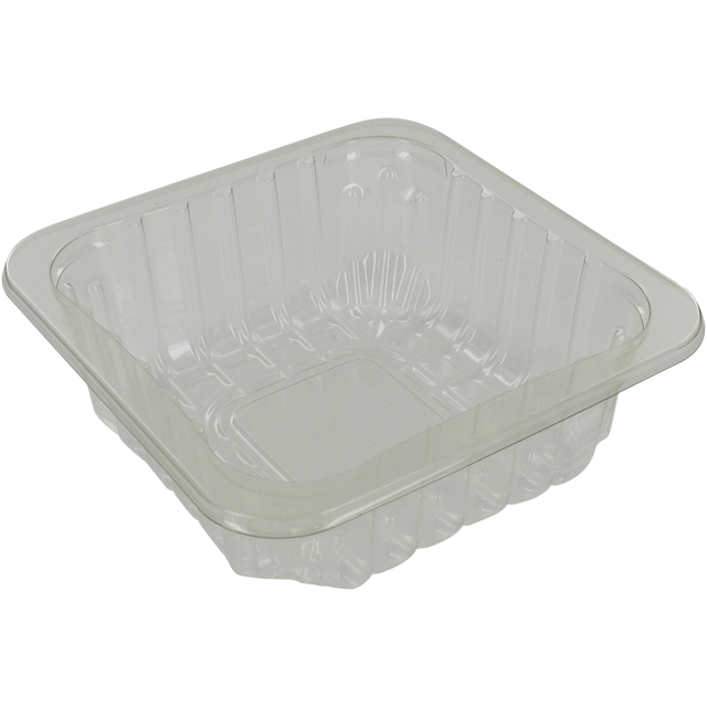 Catering serving tray , meat tray, PET, 60/45, square , 130x130mm, transparent 1