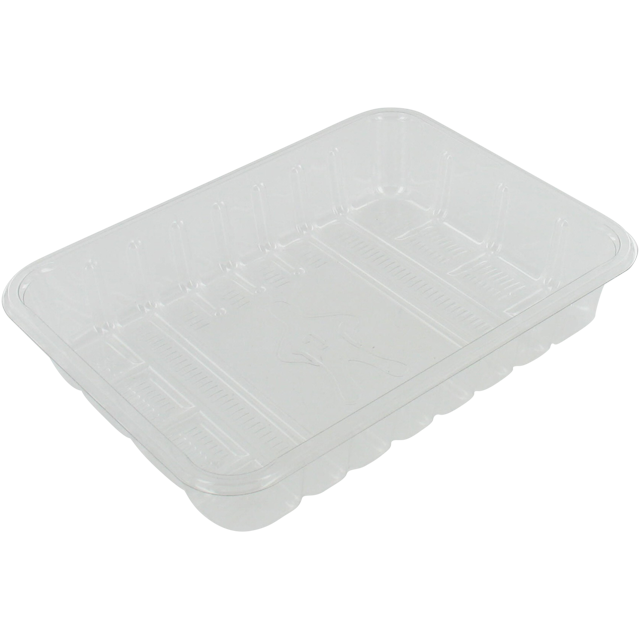 Catering serving tray , meat tray, PET, 70M, rectangular, 183x135mm, transparent 1