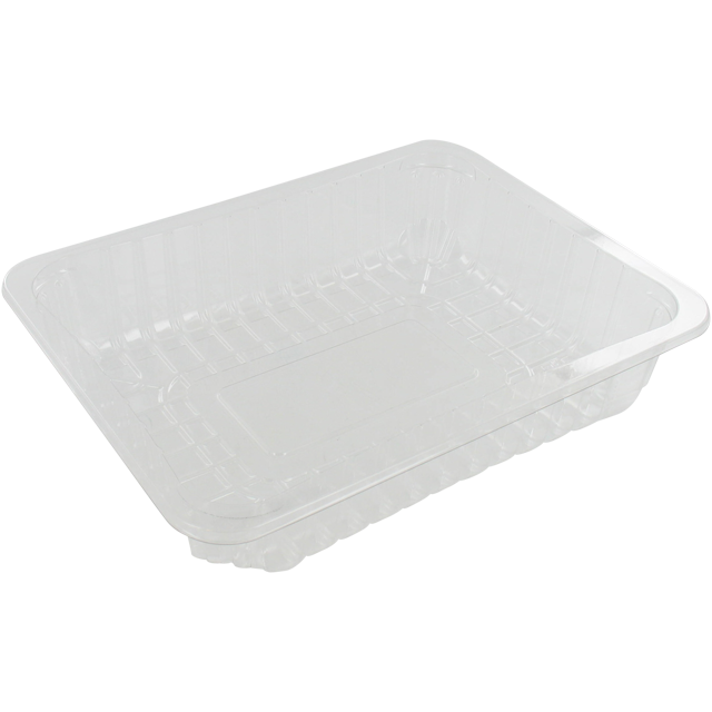Catering serving tray , meat tray, PET, 78/45, rectangular, 220x170mm, transparent 1