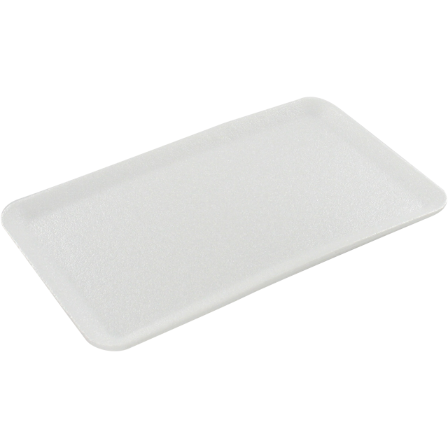 Catering serving tray , foam dish, EPS, rectangular, 160x100mm, white 1