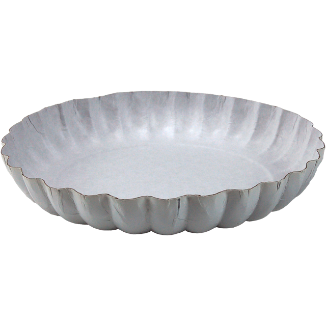 Catering serving tray , fruit bowl, Cardboard, round, ∅210mm, white 1