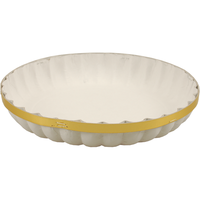 Catering serving tray , fruit bowl, Cardboard, round, ∅340mm, white 1