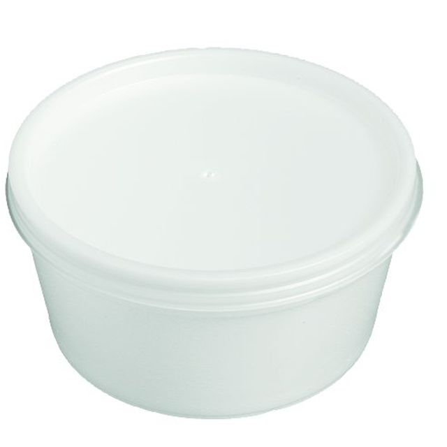 Depa, Sauce cup + lid, EPS, 230ml, 7oz, white 1