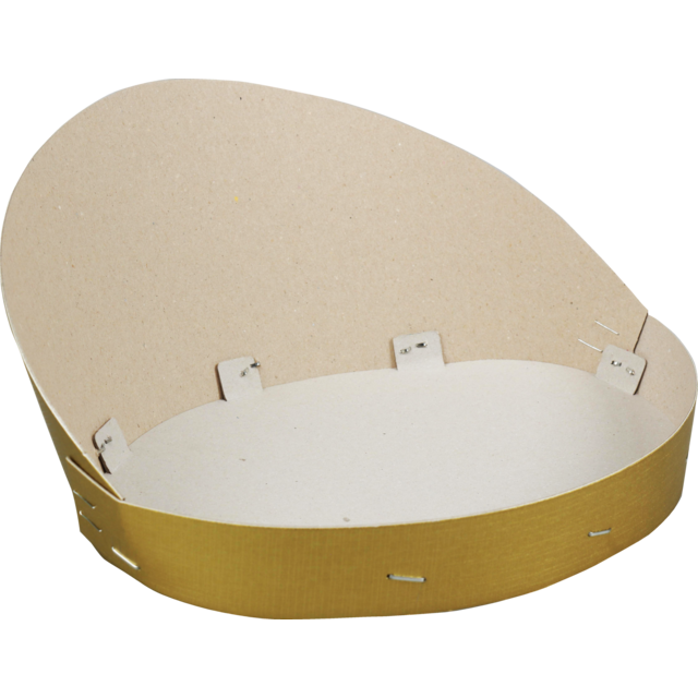 Catering serving tray , fruit bowl, Cardboard, oval, 300x135mm, aluminum 1