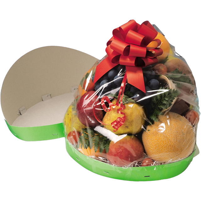 Catering serving tray , fruit bowl, Cardboard, oval, 550x220mm, aluminum 1