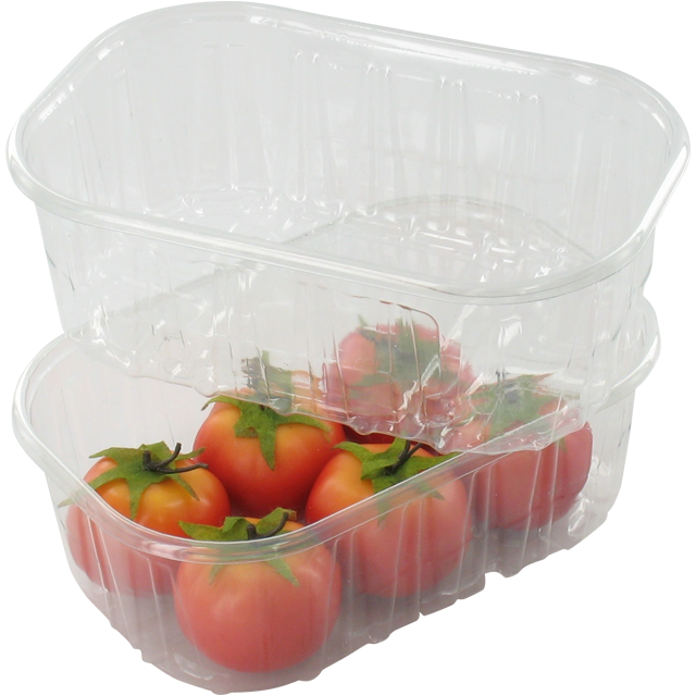 Container, PET, 250ml, salad container, 143x95x50mm, transparent 1