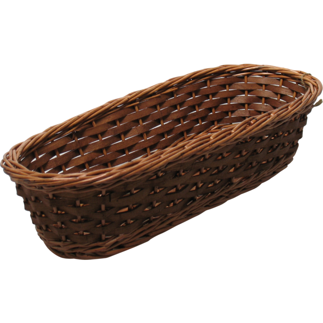 Basket, Wicker, 33x16.5x9cm, brown 1