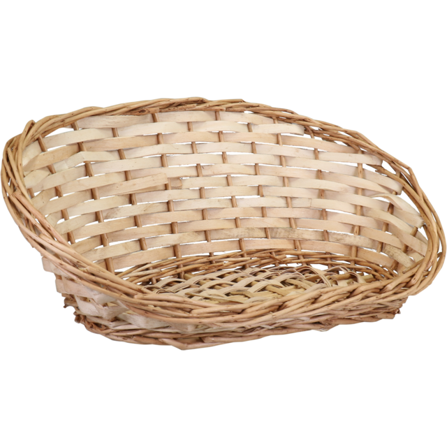 Basket, Wicker, 24x39x14cm, oval, natural 1